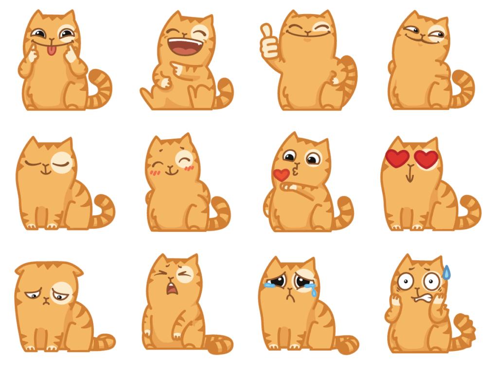 картинки для срисовки стикеры вк котики