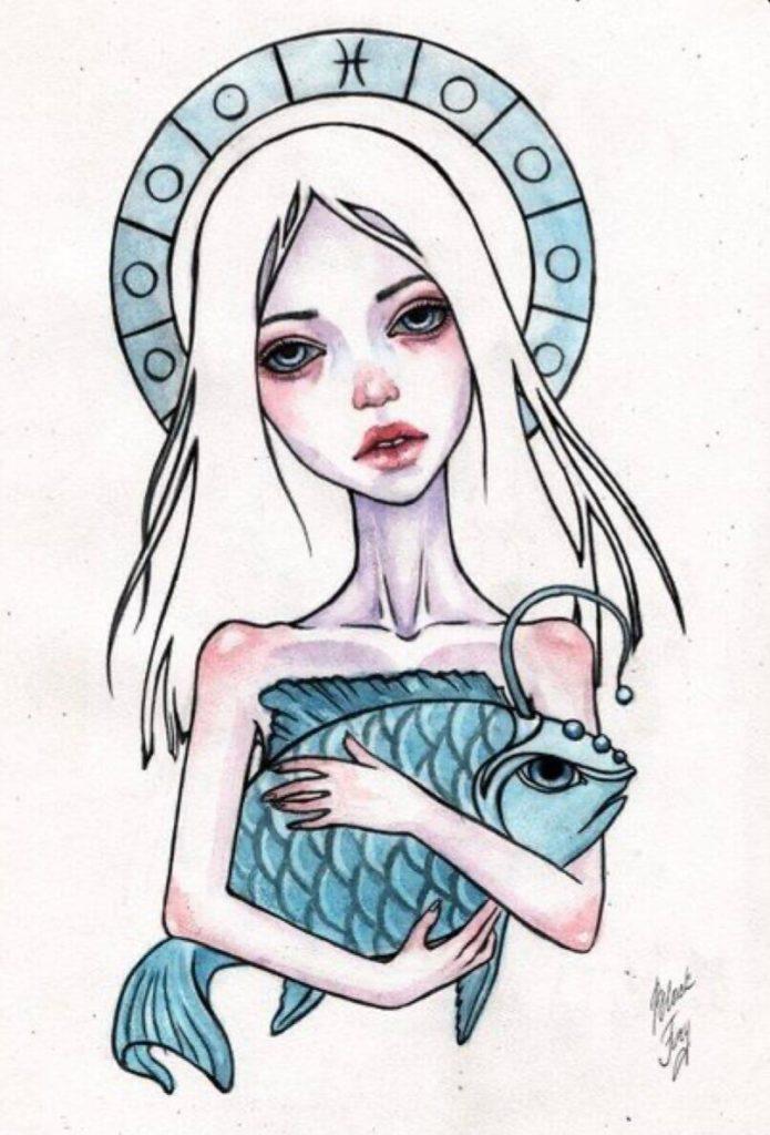 картинки для срисовки знаки зодиака рыба