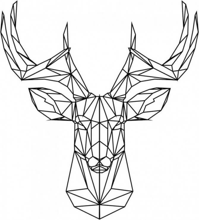 геометрические картинки для срисовки простые