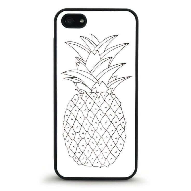 картинки для срисовки на чехол ананас