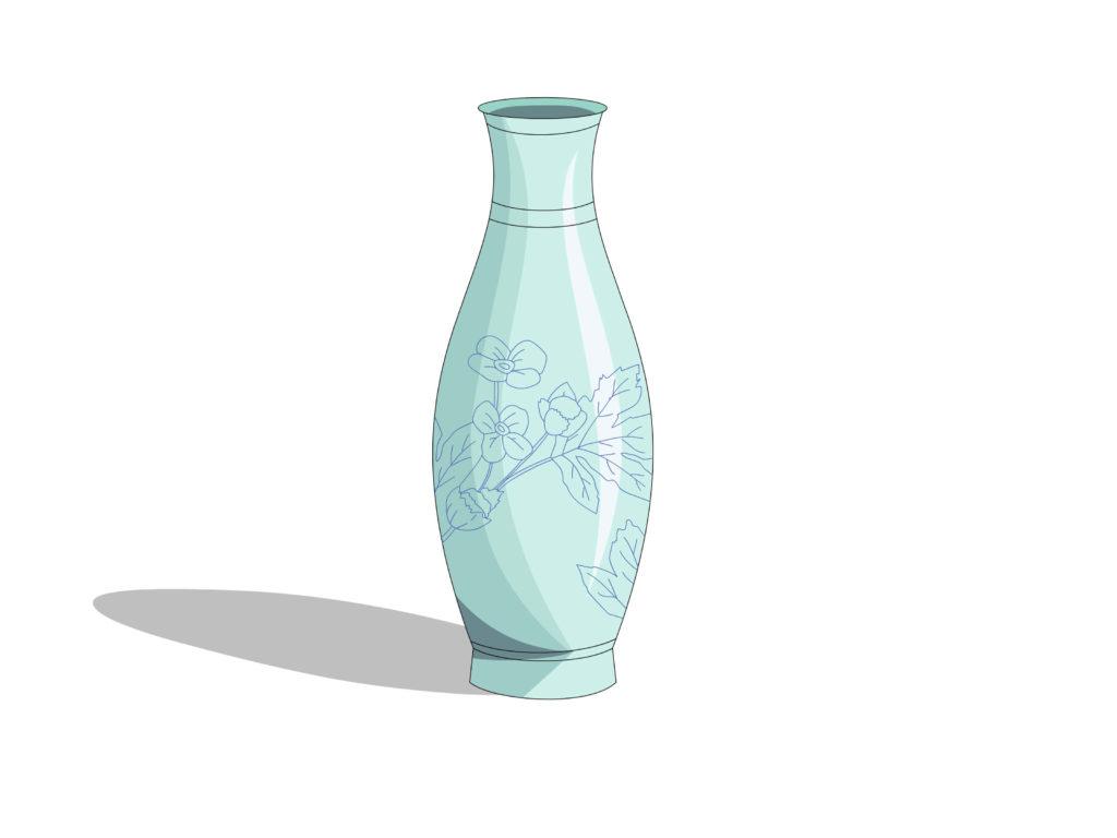 картинки для срисовки ваза с цветами