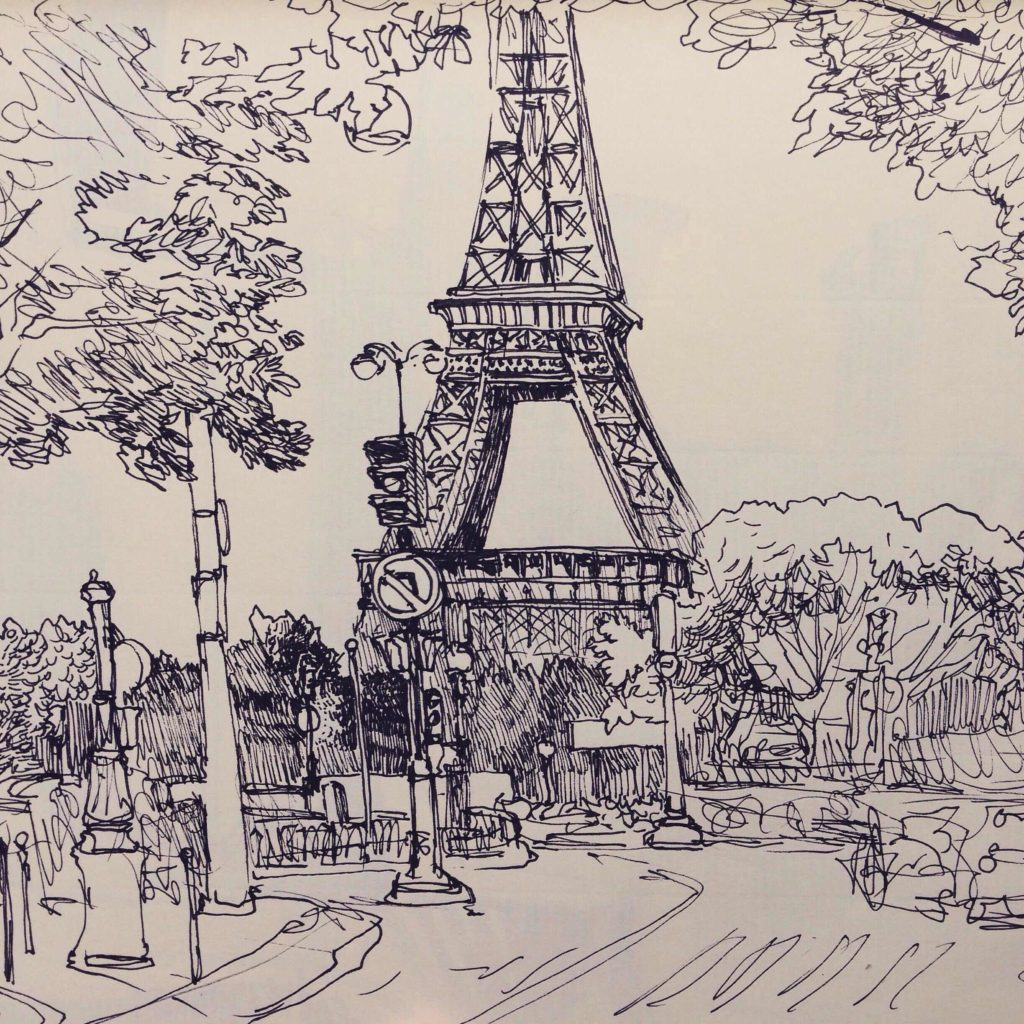 город для срисовки париж