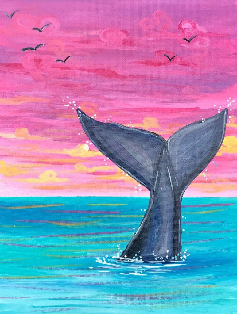 рисунки моря для срисовки акула