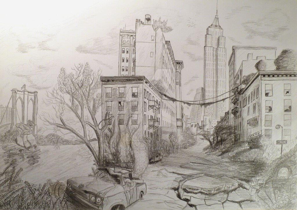 город для срисовки
