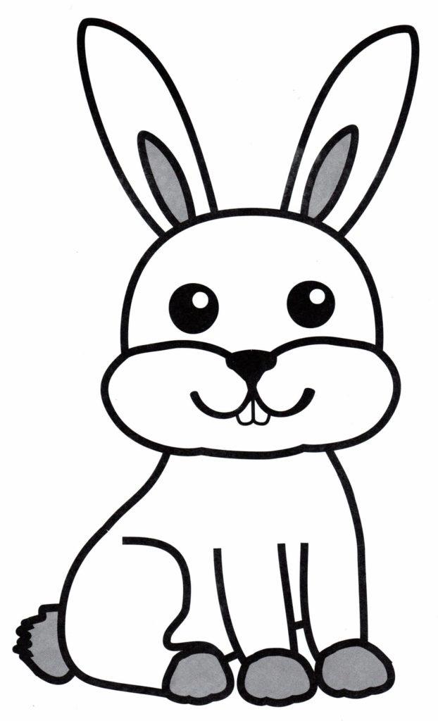 рисунок кролика для срисовки легкий
