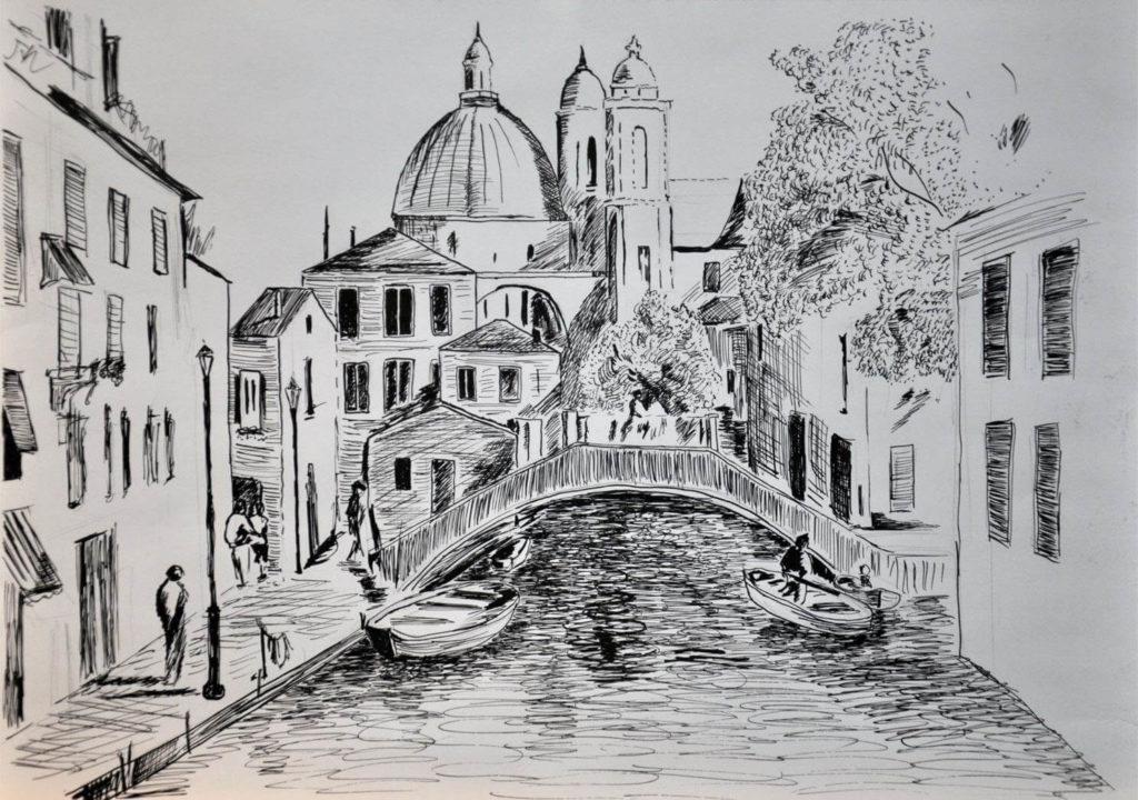 город для срисовки мост