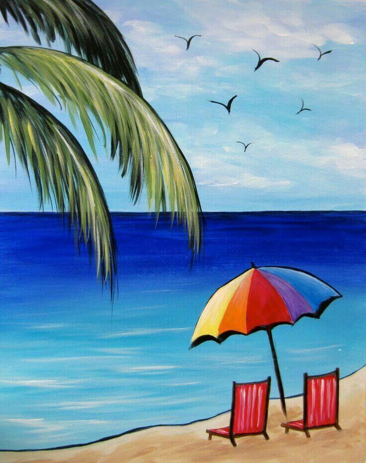 морские рисунки для срисовки