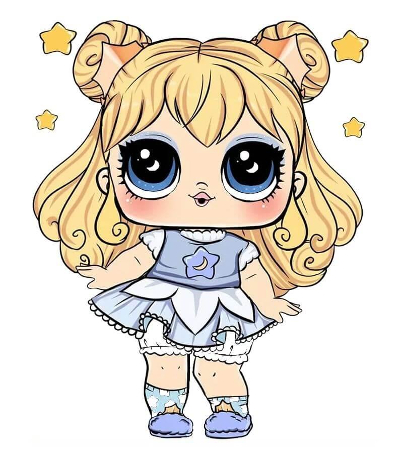 рисунки для срисовки куклы в платье