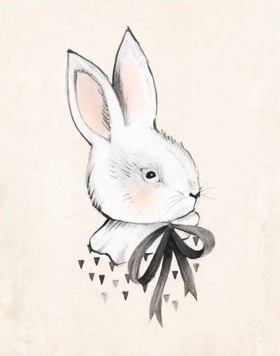 милые кролики для срисовки
