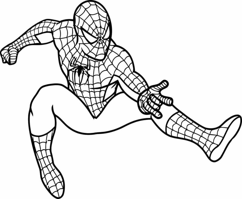 человек паук для срисовки легкие