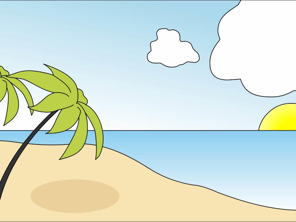 морские рисунки для срисовки цветные
