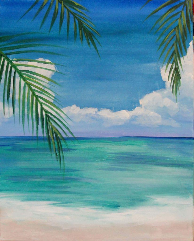 рисунки моря для срисовки