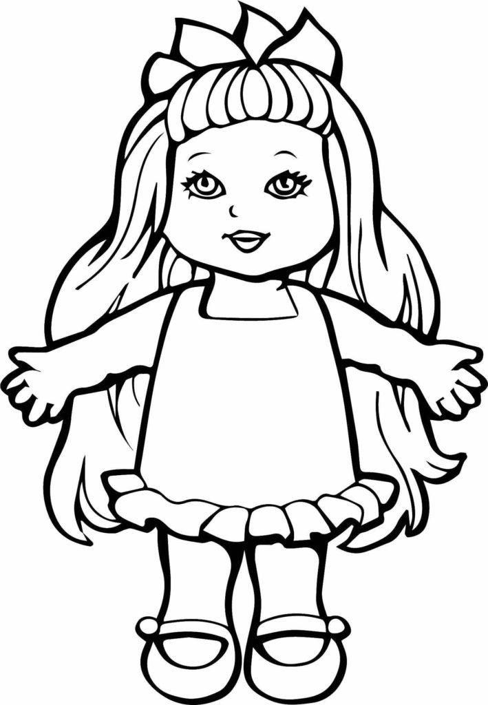 рисунки для срисовки куклы пупс