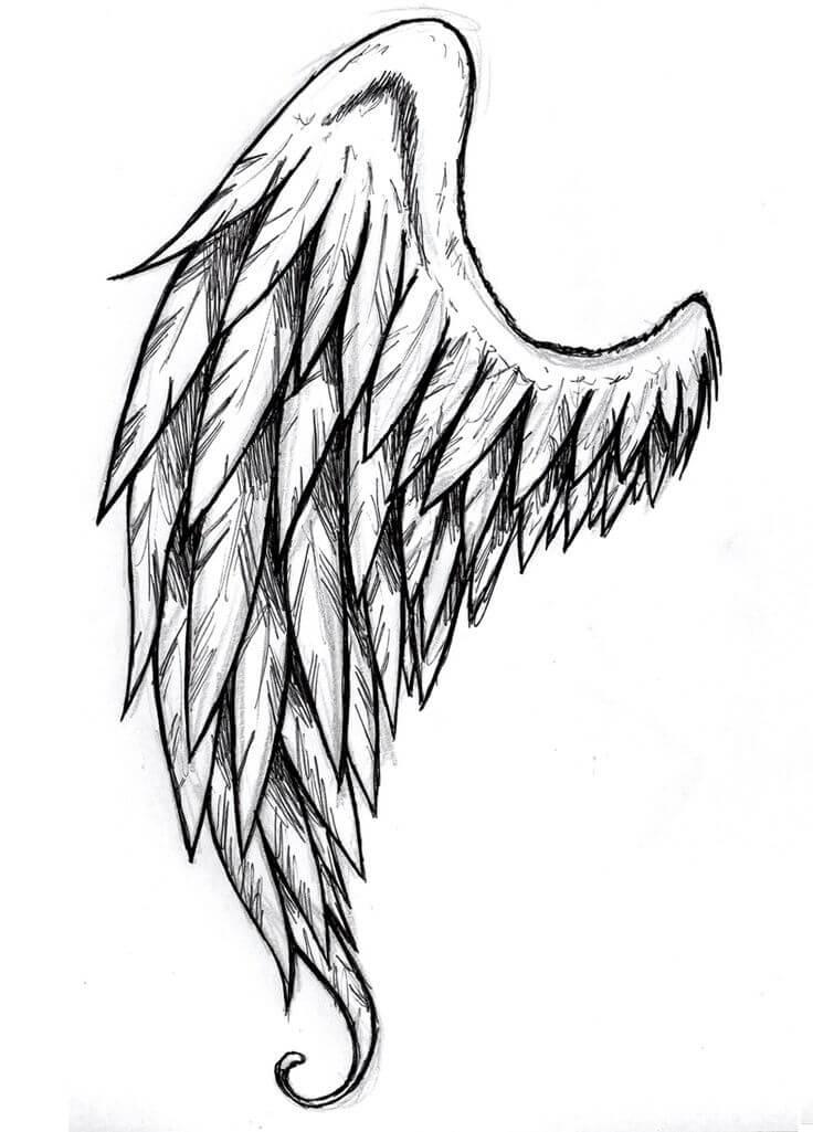 рисунки для срисовки крылья