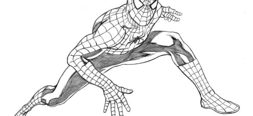 человек паук для срисовки