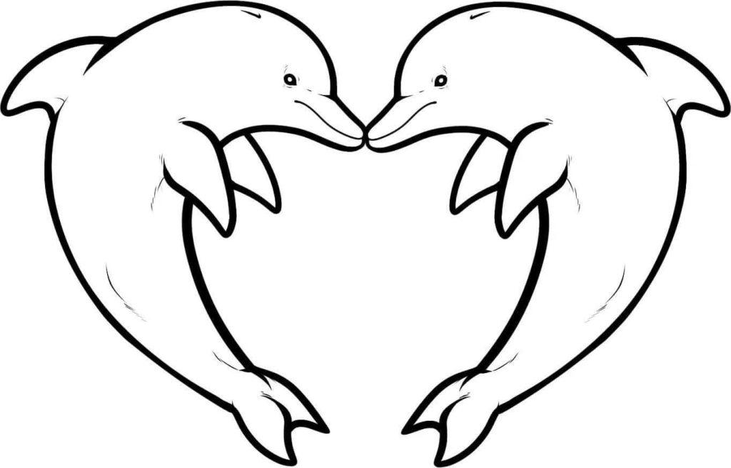дельфин для срисовки раскраска