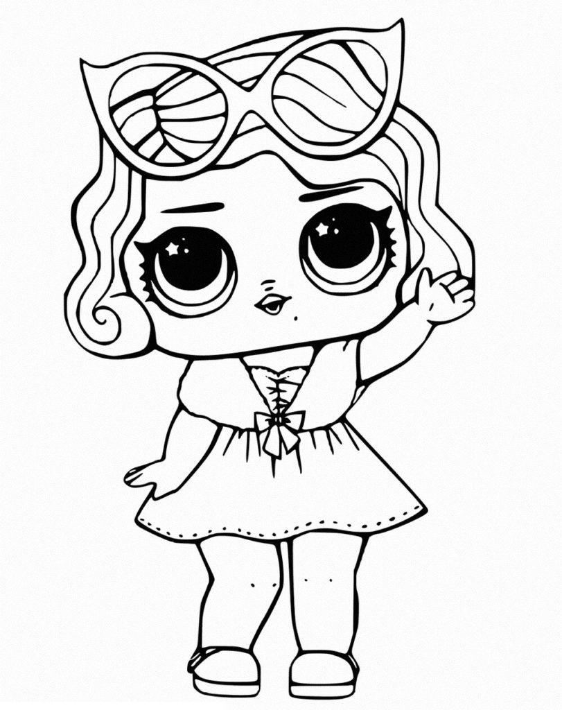 рисунки для срисовки куклы раскраска
